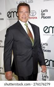 Arnold Schwarzenegger at the 2014 Environmental Media Awards held at the Warner Bros. Studios Lot in Los Angeles on October 18, 2014 in Los Angeles, California.