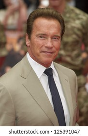 Arnold Schwarzenegger arriving for the UK Premiere of The Expendables 2 at the Empire Cinema in, Leicester Square, London. 13/08/2012 Picture by: Simon Burchell