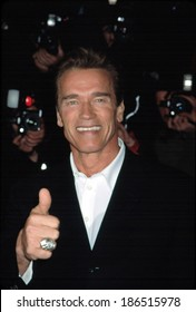 Arnold Schwarzenegger at benefit screening of COLLATERAL DAMAGE, NY 2/6/2002