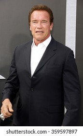 """Arnold Schwarzenegger at the Los Angeles premiere of """"Terminator Genisys"""" held at the Dolby Theatre in Los Angeles, USA on June 28, 2015."""