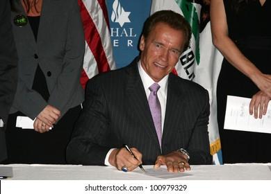 Arnold Schwarzenegger at the Official Signing of California Senate Bill 657, Museum Of Tolerance, Los Angeles, CA. 10-18-10