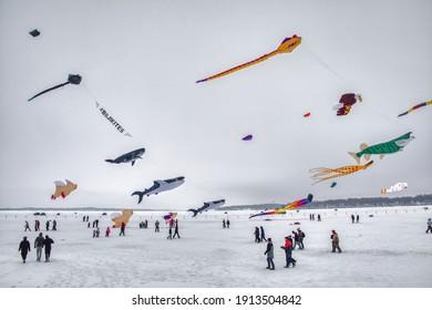 Arnold's Park, Iowa, USA 2-1-21 Okoboji Winter Games