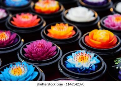 aroma flower soaps Handmade Colorful lotus.