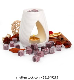 Aroma lamp with essential wax