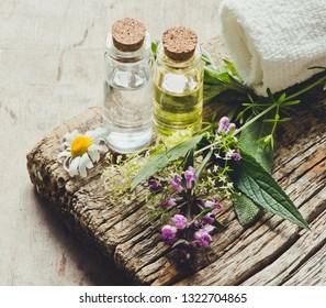 Aromatheraphy set/toned photo