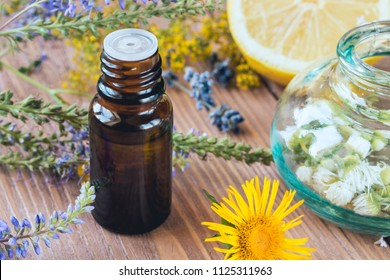 Aromatherapy with essential oils from citrus herbs and flowers.