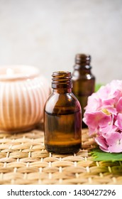 Aromatherapy oils with flowers, natural medicine