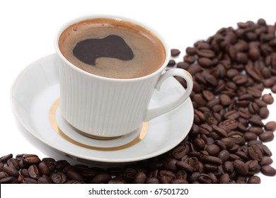 aromatic and delicious cup of coffee