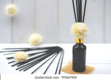 Aromatic essence oil bottle with bottle of fragrance reeds diffuser