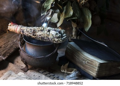 Aromatic herbs. Fumigation. Witchcraft. Magic