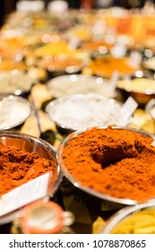 Aromatic herbs and spices. Spices market