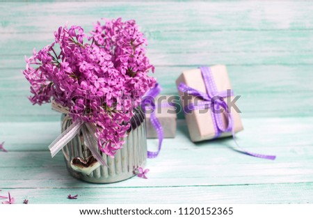 Aromatic Lilac Flowers Vase Boxes Gifts Stock Photo Edit Now