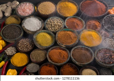 Aromatic spices and Still Life background