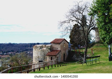 Arona, Italy - La Rocca ( ruins of old fortress )