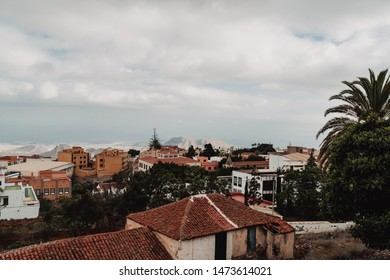 Arona, Tenerife - July 11, 2019; View on Arona town from the highest street. Arona is one of the main tourist destinations in the south if the Island with stunning scenery.