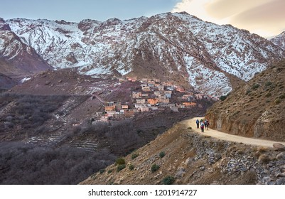 Aroumd, a small Berber village in the Ait Mizane Valley of the High Atlas mountain, Morocco