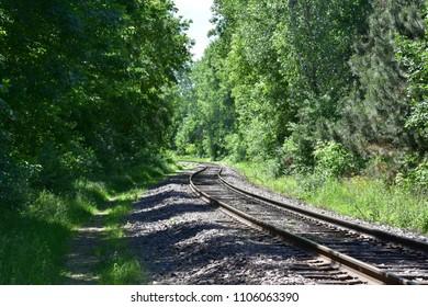 Around the Bend--train tracks