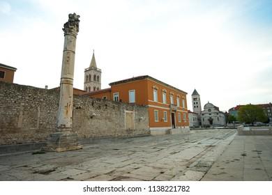Around St. Donatus a church located in Zadar, Croatia