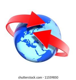 Around the world (Europe view)