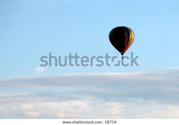 Around The World in . . . :  Hot air ballon from First Annual Hugo Oklahoma Balloon Festival