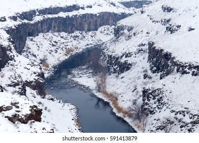 Arpa River or Arpa Cayi, border river to Armenia, Eastern Anatolia Region, Anatolia, Turkey, Asia