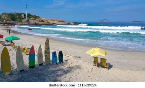Arpoador beach famous surf point of Rio de Janeiro Brazil