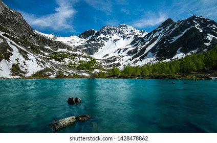 Arpy's lake in Aosta Valley (Italy)