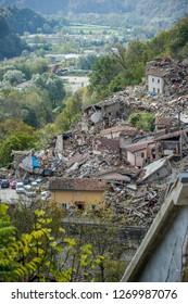 Arquata del Tronto after the earthquake