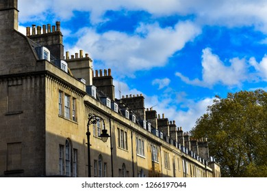 Arquitecture and chimneys of Bath, United Kingdom