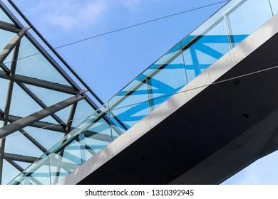 Arquitecture closeup detail of bridge
