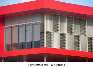 Arquitecture detail red building