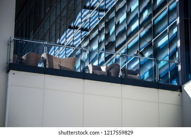 Arquitecture dettail of a terrace in a business building