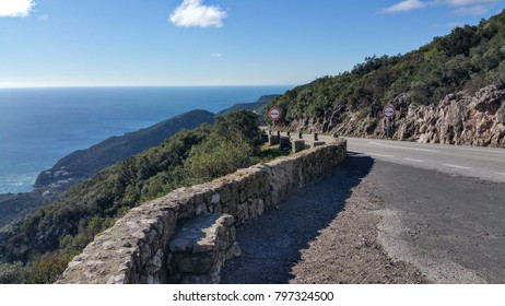 Arrabida Mountains, Portugal - Scenic views from the top to the blue ocean