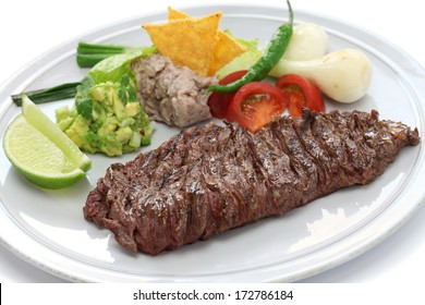 arrachera, mexican spiced skirt steak