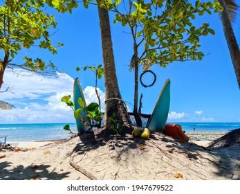 Arraial d'Ajuda ist ein Bezirk der brasilianischen Gemeinde Porto Seguro, an der Küste des Staates Bahia.