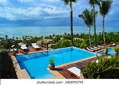 Arraial d'Ajuda/Bahia/brazil - May 08th 2014: Baixú Village Hotel with Panoramic Ocean View on Mucugê Street, 337