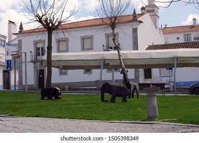 Arraiolos/Alentejo/Portugal - March 31, 2018 Arraiolos Street, Alentejo Region, Portugal
