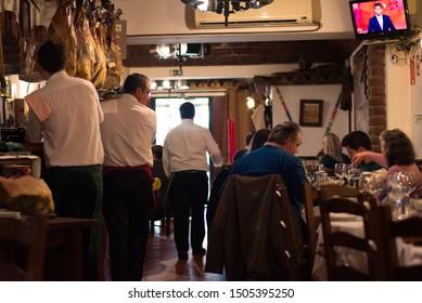 Arraiolos/Alentejo/Portugal - March 31, 2019 Typical Restaurant from Alentejo, Portugal