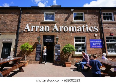 ARRAN, SCOTLAND -12 JULY 2017- Inside the store and factory of Arran Aromatics, a Scottish cosmetics and bath products company based on the Isle of Arran.