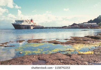 Arran Scotland UK 09/01/1999:  Caledonian MacBrayne MV Caledonian Isles ferry at Arran