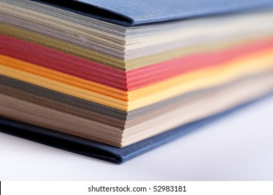 arrangement of color swatch, abstract close-up shot