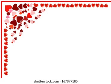 arrangement of heart as pattern for Valentines day