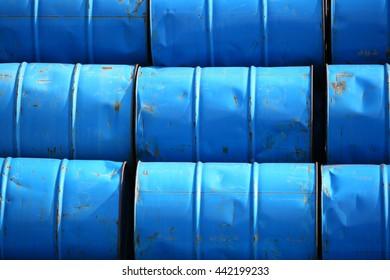 Arrangement of old oil tank in warehouse