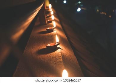 An array of candles (Karthigai Deepam)
