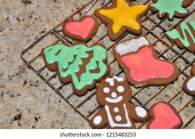 An array of Christmas Gingerbread cookies.