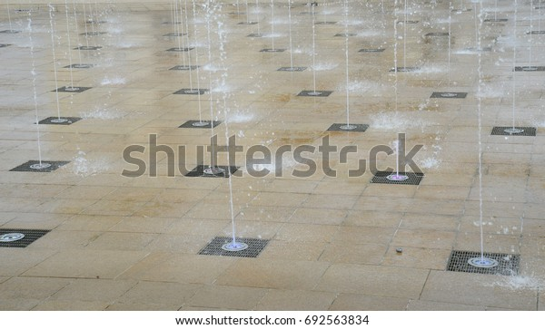 array of fountains