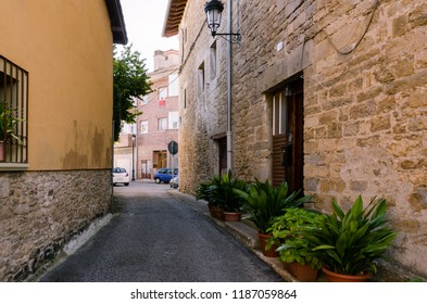 Arre, España, 21/09/2018 : streets and buildings of the Arre village located in Navarra