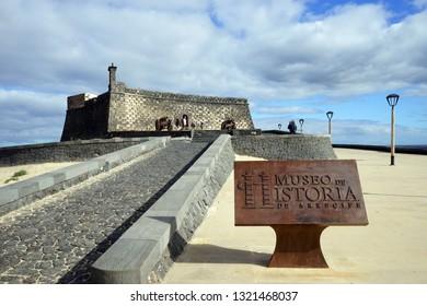 ARRECIFE, SPAIN - CIRCA FEBRUARY 2019 Museo de la Historia de Arrecife