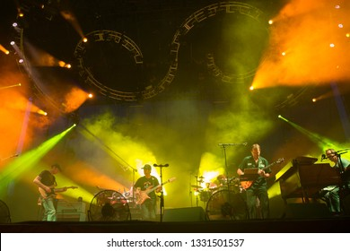 Arrington, VA/USA - 9/4/2014: Umphrey's McGee performs at LOCKN' Festival. An American rock band originally from South Bend, Indiana.