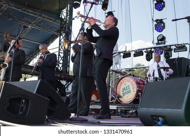 Arrington, VA/USA - 9/5/2014: Preservation Hall Jazz Band performs at LOCKN' Festival. A New Orleans jazz band founded in New Orleans in the early 1960s.